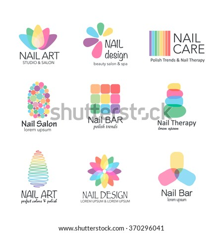 vector logotype design for nail salon studio bar spa boutique nail - Nail Salon Logo Design Ideas