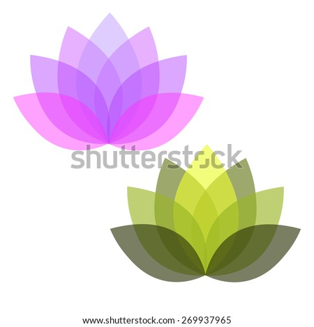 Vector lotus - stock vector
