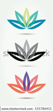 Vector lotus symbols. - stock vector