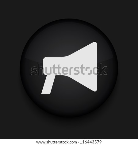 Vector  loudspeaker icon. Eps10. Easy to edit - stock vector