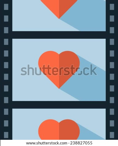 vector love movie, concept illustration - stock vector