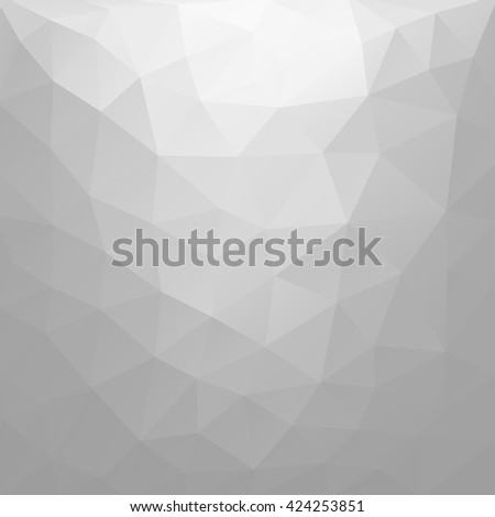 Vector Low poly grey triangles background.