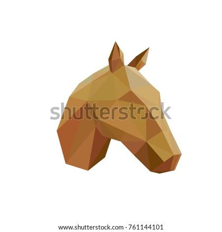 Vector Low Poly Horse Head Icon