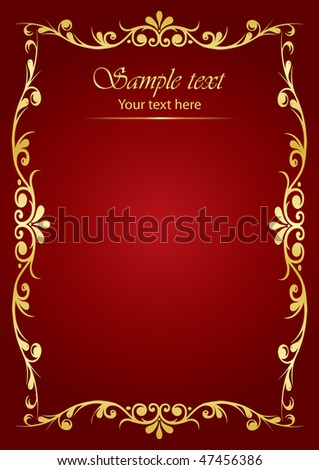 Vector luxury background - stock vector