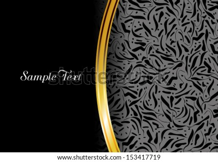 Vector luxury card. Perfect as invitation or announcement. - stock vector