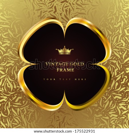 Vector luxury vintage background. Perfect as invitation or announcement. - stock vector