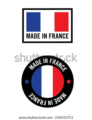 Vector 'Made in France' Icon and Logo Set