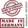 Vector made in germany stamp with red ink - stock vector