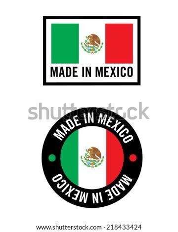 vector made mexico icon logo set stock vector 218433424 shutterstock rh shutterstock com made in mexico logo shirt logotipo de made in mexico