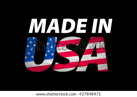 Vector Made in the USA logo vector art