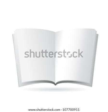 Vector magazine blank, page template for design on white background - stock vector