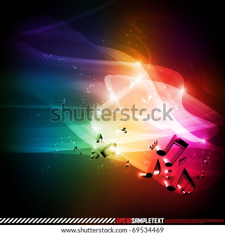 Vector Magical Melody - stock vector