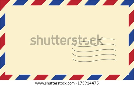 vector mail envelope on white background - stock vector