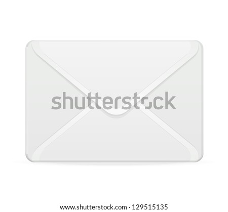 Vector mail template white - stock vector