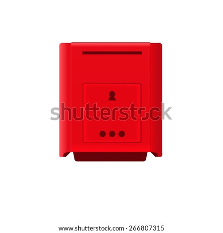 Vector Mailbox Icon isolated on  white background - stock vector