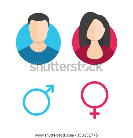 man and woman icon male stock images royalty free images vectors 6774