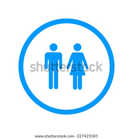 Vector man and woman icons  toilet sign  restroom icon  minimal style   pictogram. Vector Man Woman Icons Toilet Sign Stock Vector 289785284