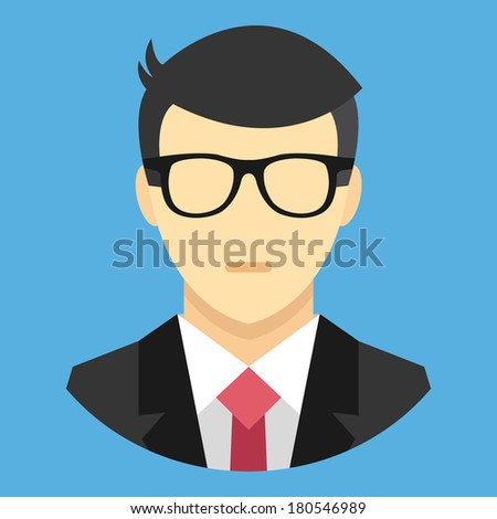 Vector Man in Business Suit Icon - stock vector