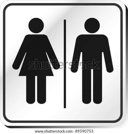 Vector Man & Woman restroom sign - stock vector