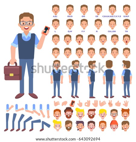 Vector Manager Character Your Scenes Character Stock Vector ...