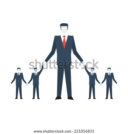 Vector manager growth - stock vector
