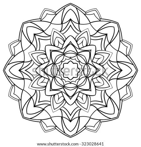 circular symmetric mandala on white background stock vector 507347689 shutterstock. Black Bedroom Furniture Sets. Home Design Ideas