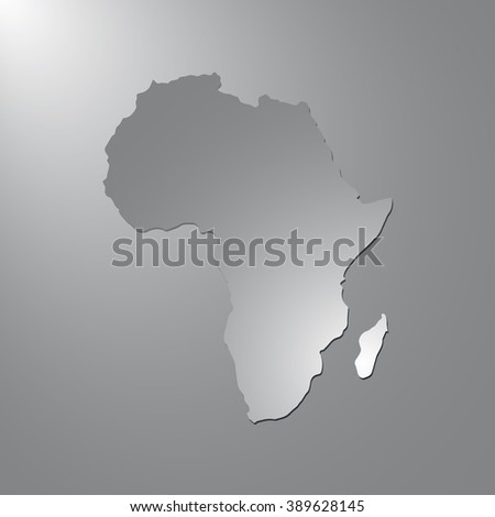 Vector map Africa. Gray background with gradient. Isolated vector Illustration. Gray on Gradient background. With shadow. EPS Illustration. - stock vector