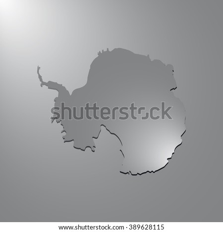 Vector map Antarctica. Gray background with gradient. Isolated vector Illustration. Gray on Gradient background. With shadow. EPS Illustration. - stock vector