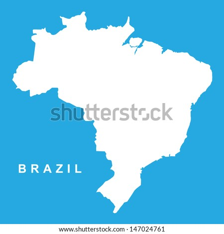 Vector Map Brazil - stock vector