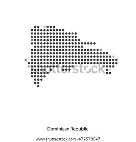 Vector Map Dominican Republic Mosaic Dots Stock Vector - Dominican republic map vector