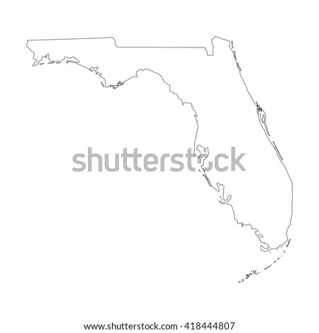 Florida Map Outline Vector 38816 Usbdata