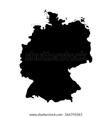 Vector map Germany. Isolated vector Illustration. Black on White background. EPS Illustration. - stock vector