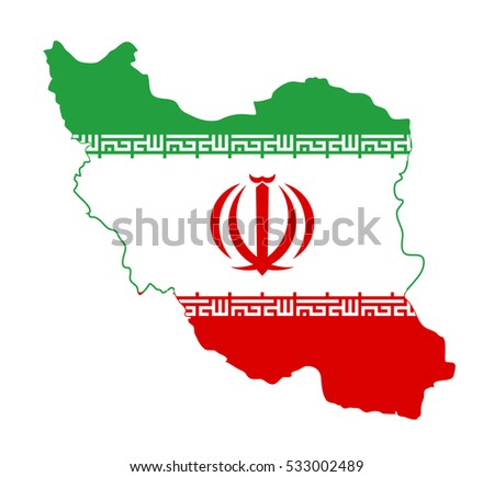 Vector map iran vector Illustration. on White background