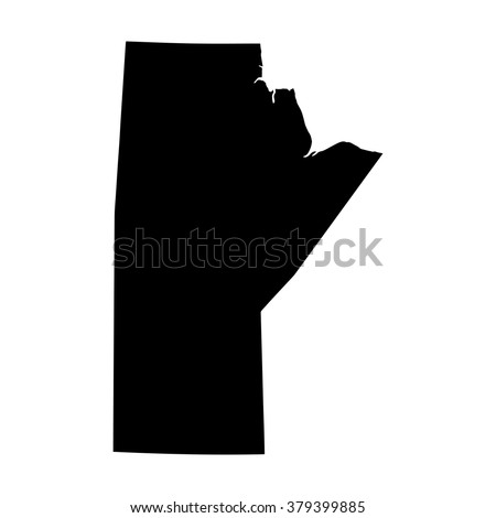 Vector map Manitoba. Isolated vector Illustration. Black on White background. EPS Illustration. - stock vector