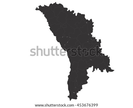 Vector map-moldova country on white background