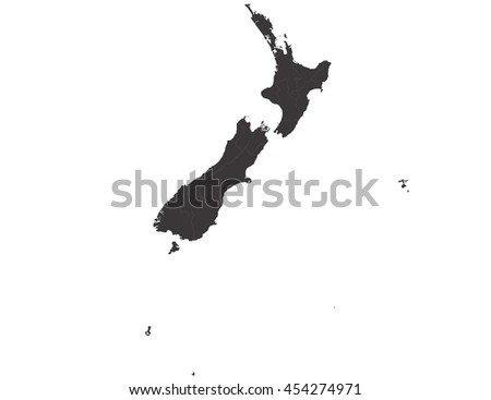 Vector map-new Zealand country