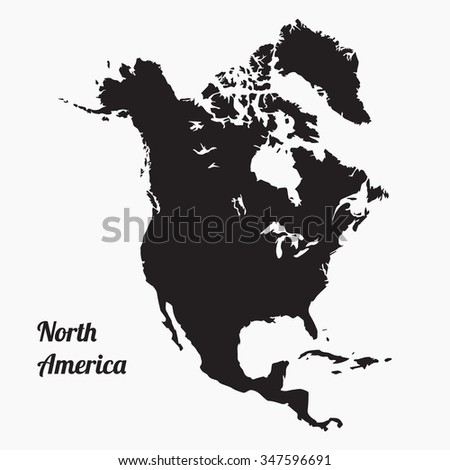 Vector Map North America Gray Vector Stock Vector 347596691