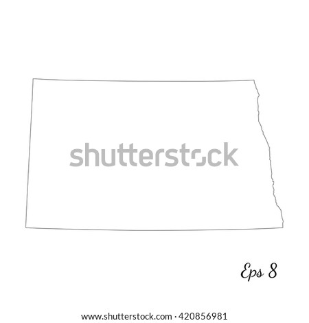North Dakota Vector Map Vector Free Printable Images World Maps - Map of the us with dakotas together