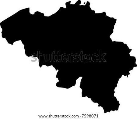 vector map of belgium - stock vector