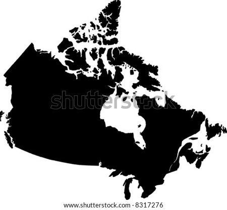 vector map of canada - stock vector