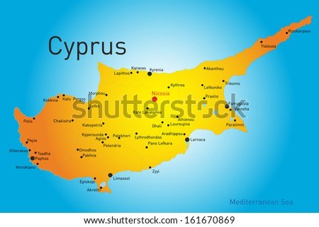 vector map of Cyprus country