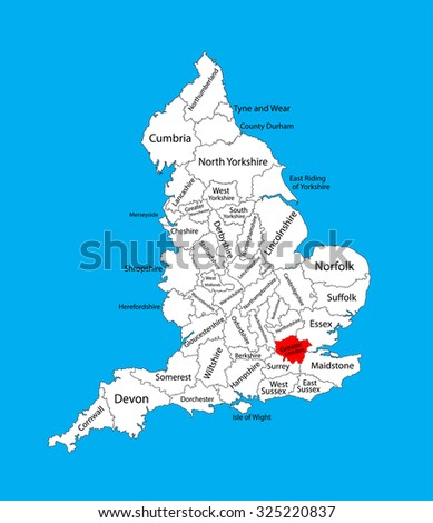 vector map of greater london in united kingdom with regions england vector map