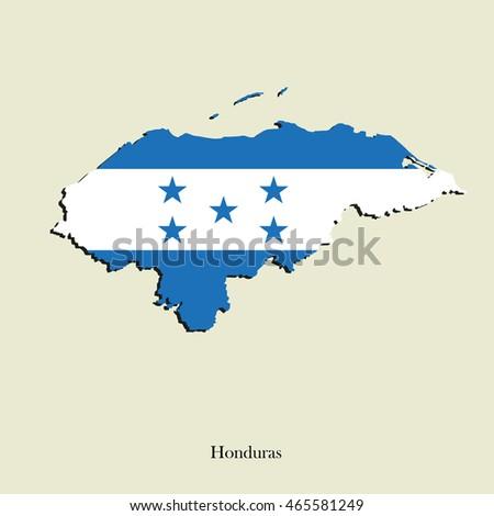 Breathtaking honduras flag vector pics