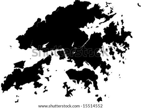 vector map of hong kong - stock vector