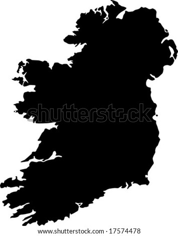 vector map of Ireland - stock vector