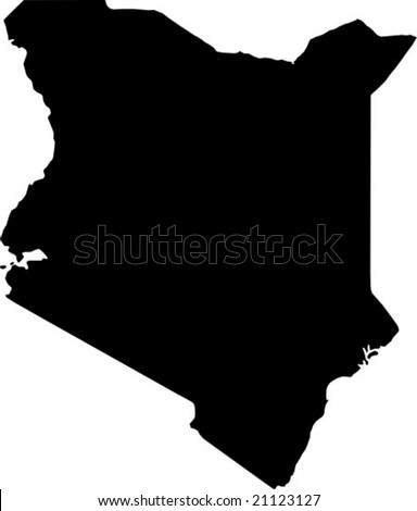vector map of kenya - stock vector