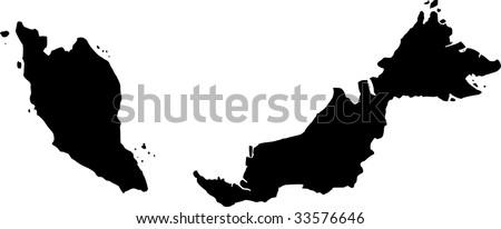 vector map of Malaysia - stock vector