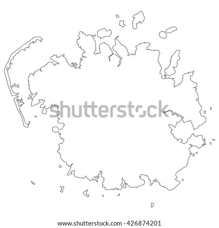 vector map of Micronesia - stock vector