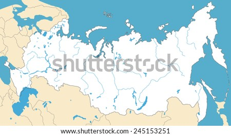 Vector Map of Russia - stock vector