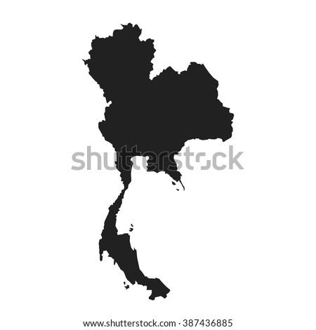 vector map of thailand - stock vector